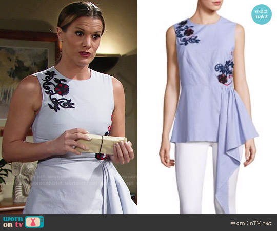 Suno Cascade Sleeveless Top worn by Chelsea Lawson (Melissa Claire Egan) on The Young & the Restless
