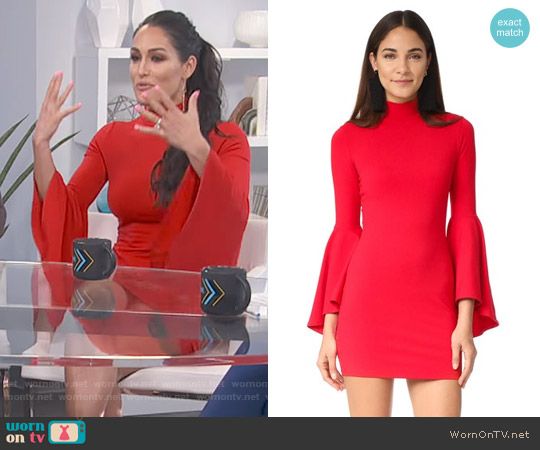 Susana Monaco Izzie Mock Neck Dress worn by Nikki Bella on Daily Pop
