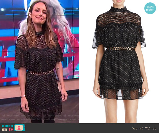 Talulah Swiss Dot Mini Dress worn by Catt Sadler  on E! News