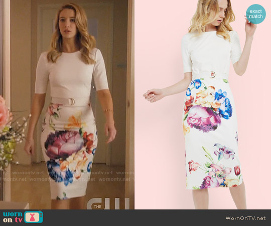 Ted Baker Aldora Dress worn by Petra Solano (Yael Grobglas) on Jane the Virgin