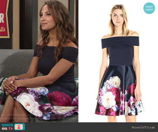 Ted Baker Nersi Dress worn by Lily Winters (Christel Khalil) on The Young & the Restless
