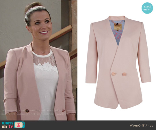 Ted Baker Rufia Double Button Jacket worn by Chelsea Lawson on The Young & the Restless