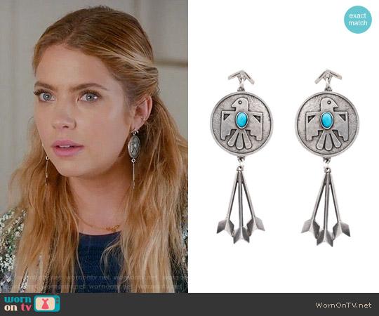The 2 Bandits Cher Thunderbird Earrings worn by Hanna Marin on PLL