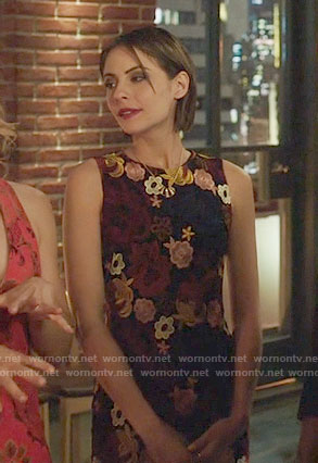 Thea's multi-colored lace dress on Arrow
