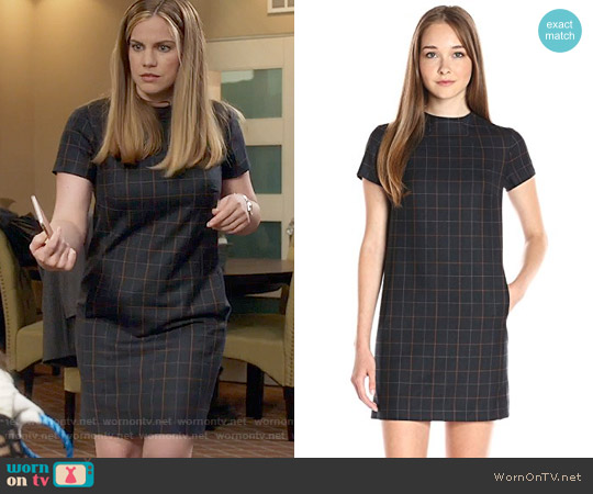 Theory Jasneah Tile Check Dress worn by Amy Brookheimer (Anna Chlumsky) on Veep