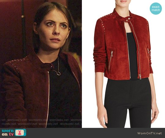 Theory Bavewick Jacket worn by Willa Holland on Arrow