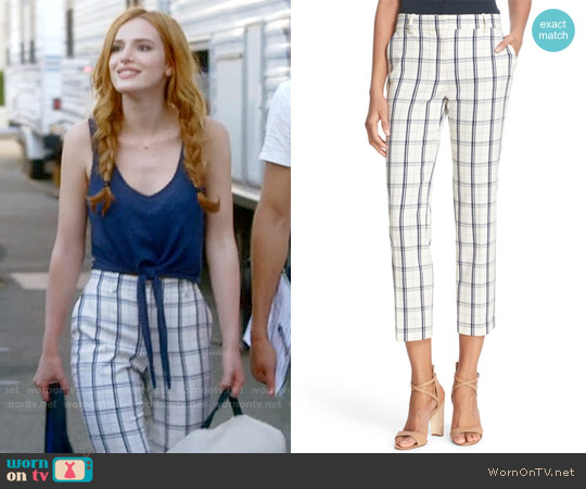 Theory Treeca Trousers worn by Paige Townsen on Famous in Love