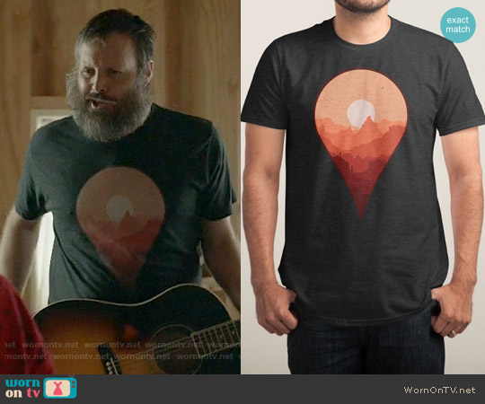 Threadless Destination Unknown Tee worn by Will Forte on Last Man On Earth