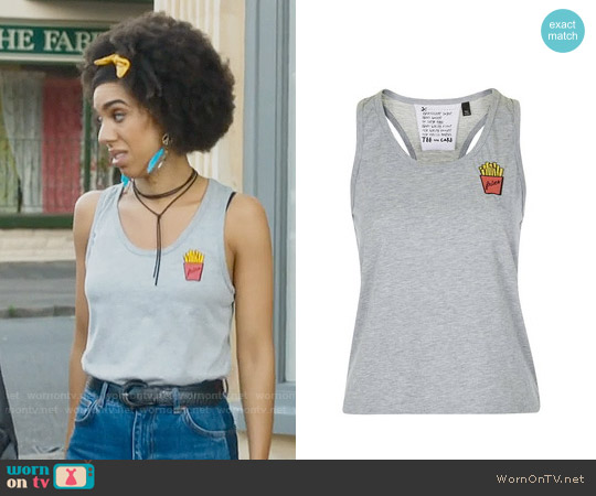 Topshop Fries Tank worn by Pearl Mackie on Doctor Who