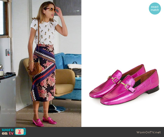 Topshop Karter Loafers  in Pink worn by Georgie Flores on Famous in Love