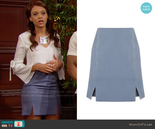 Topshop Tailored Skirt worn by Nicole Avant on The Bold & the Beautiful