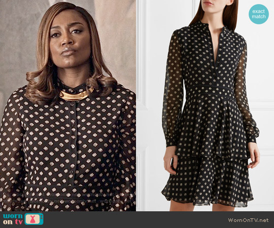Tory Burch Seymour Dress worn by Patina Miller on Madam Secretary