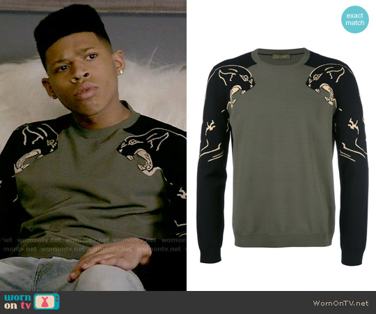 Valentino Panther Sweater worn by Bryshere Y. Gray on Empire