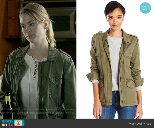 Velvet by Graham & Spencer Ruby Army Jacket worn by Melissa Shart on Last Man On Earth