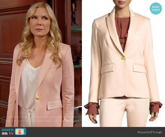 Veronica Beard Rebel Major Cutaway Jacket worn by Katherine Kelly Lang on The Bold & the Beautiful
