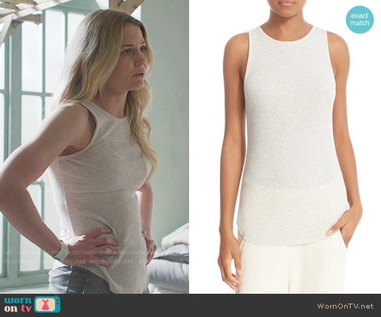 Vince High Neck Tank Top worn by Jennifer Morrison on OUAT