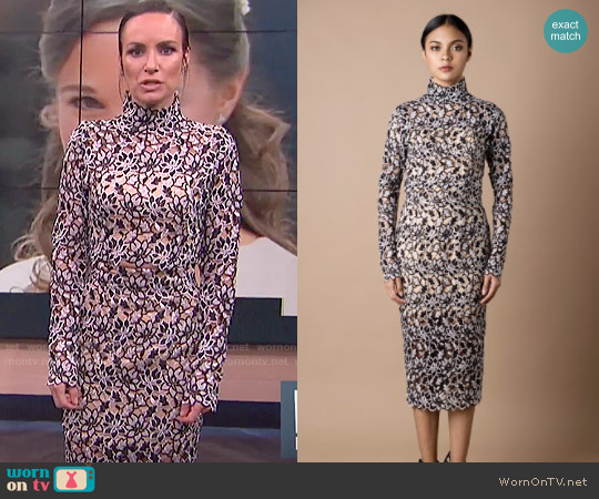 Vone Lace Top and Skirt FW/2017 worn by Catt Sadler on E! News