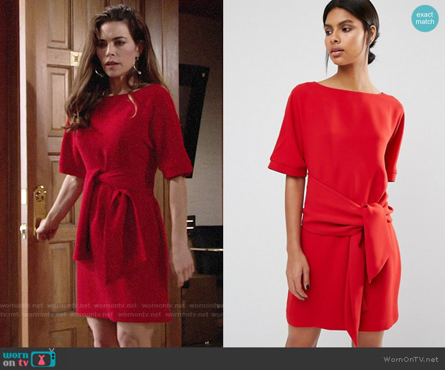 Whistles Cecil Dress worn by Victoria Newman (Amelia Heinle) on The Young & the Restless