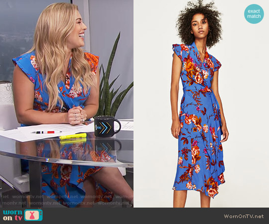 Zara Asymmetric Length Dress worn by Carissa Loethen Culiner  on E! News