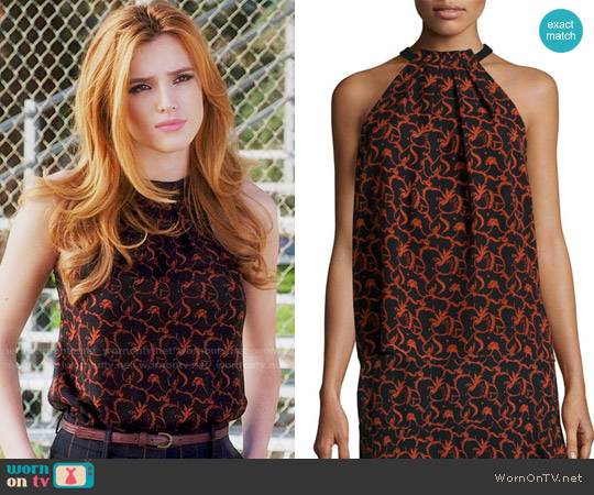 ALC Mari Top in Black / Rust worn by Bella Thorne on Famous in Love