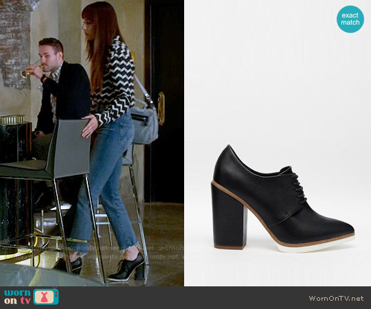 ASOS ON A ROLL Lace Up Heeled Shoes worn by Troian Bellisario on PLL