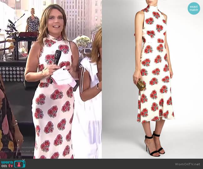 Poppy Print Dress by Alexander McQueen worn by Savannah Guthrie on Today