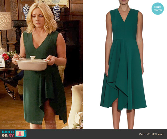 Alexander McQueen Asymmetric-hem Midi Dress worn by Jacqueline Voorhees (Jane Krakowski) on Unbreakable Kimmy Schmidt