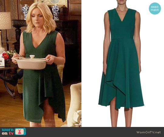 Alexander McQueen Asymmetric-hem Midi Dress worn by Jane Krakowski on Unbreakable Kimmy Schmidt