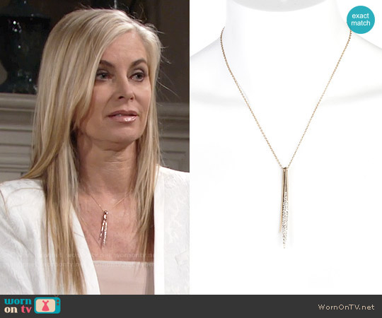 Alexis Bittar Spear Pendant Necklace worn by Ashley Abbott on The Young & the Restless