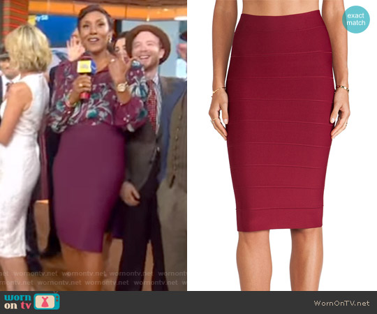 Leger Pencil Skirt by Bcbgmaxazria worn by Robin Roberts on Good Morning America