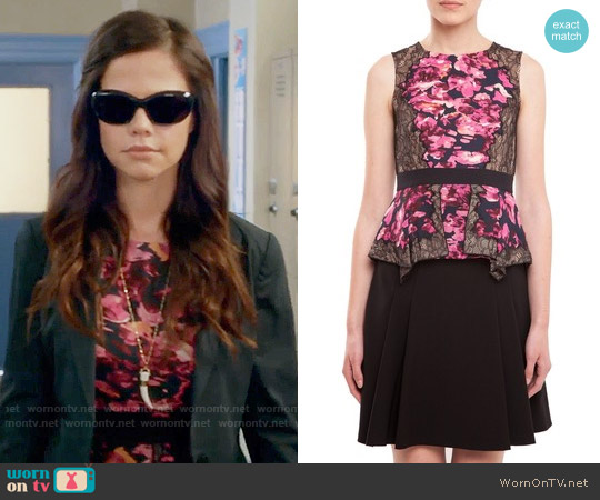 Bcbgmaxazria Kaylyn Top worn by Tammin Sursok on PLL