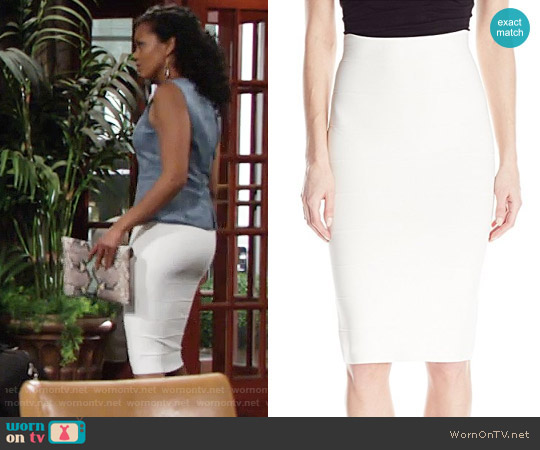 Bcbgmaxazria Leger Skirt worn by Hilary Curtis on The Young & the Restless