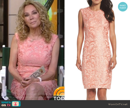 Sequin Lace Sheath Dress by Chetta B worn by Kathie Lee Gifford on Today