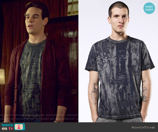 T-JOE-NW T-shirt by Diesel worn by Simon Lewis (Alberto Rosende) on Shadowhunters