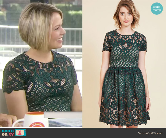 Luxuriant Lace Mini Dress by Eliza J worn by Dylan Dreyer (Dylan Dreyer) on Today