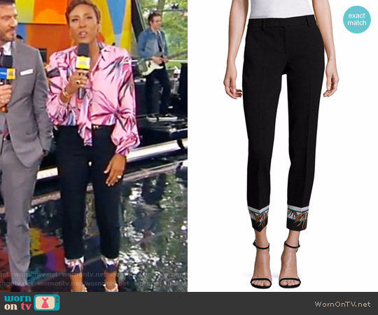 Wool-Blend Printed Pants by Emilio Pucci worn by Robin Roberts on Good Morning America