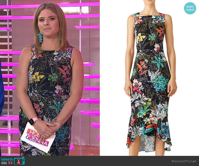 Floral-Print Crepe Dress by Peter Pilotto worn by Jenna Bush Hager  on Today