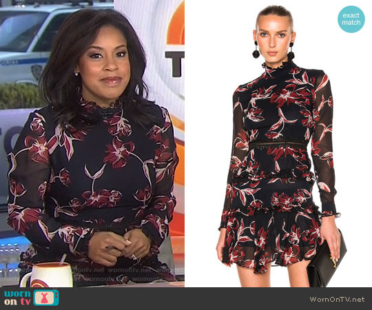 French Floral Mini Dress by Nicholas worn by Sheinelle Jones on Today