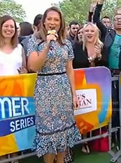 Ginger's blue floral lace dress on Good Morning America