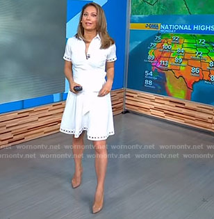 Ginger's white shirtdress on Good Morning America