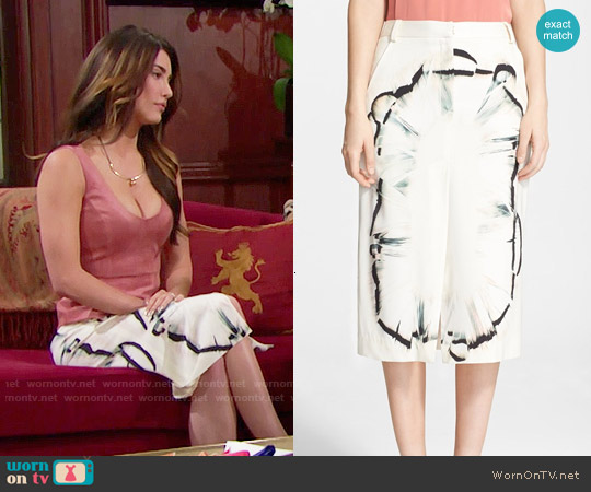 Halston Heritage Silk Midi Skirt worn by Steffy Forrester (Jacqueline MacInnes Wood) on The Bold & the Beautiful