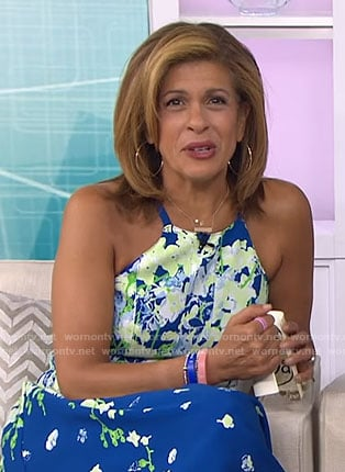 Hoda's blue floral dress on Today