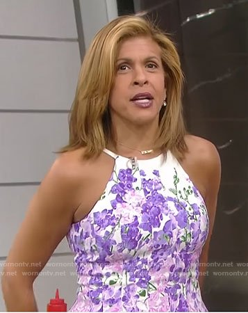 Hoda's white floral dress on Today