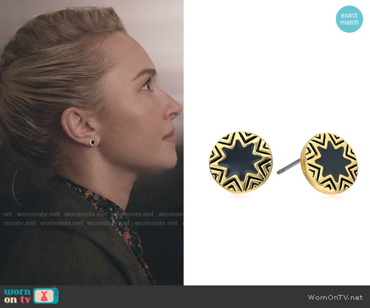 House of Harlow Enameled Sunburst Stud Earrings worn by Hayden Panettiere on Nashville