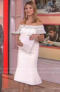 Jenna's white ruffled off-shoulder dress on Today
