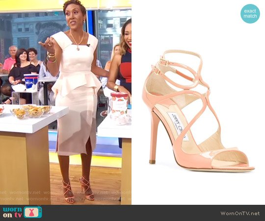 Lance sandals by Jimmy Choo worn by Robin Roberts  on Good Morning America