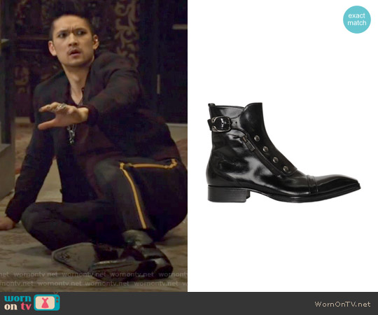 Polished Leather Ankle Boots by Jo Ghost worn by Harry Shum Jr. on Shadowhunters