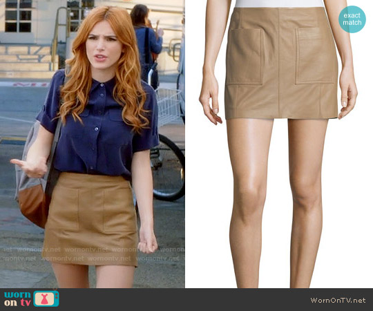 Joie Nephrite Leather Skirt worn by Paige Townsen on Famous in Love