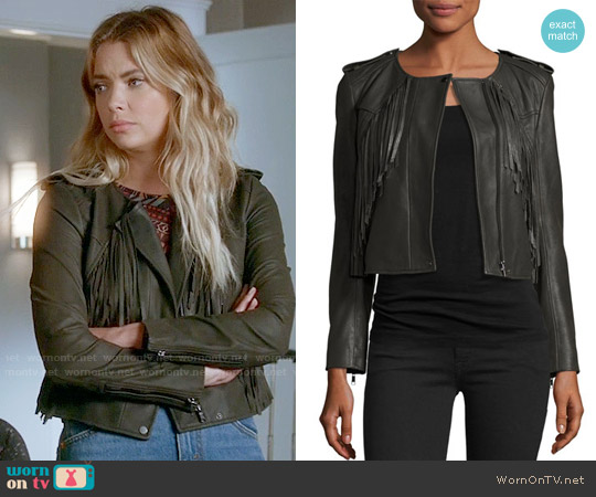 Joie Zeno Leather Jacket worn by Hanna Marin on PLL