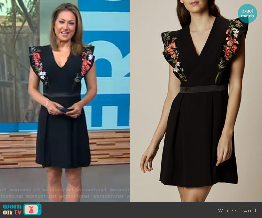 Boho Embroidered Dress by Karen Millen worn by Ginger Zee on Good Morning America